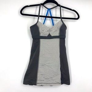 lululemon bend and flow tank blue strap 2